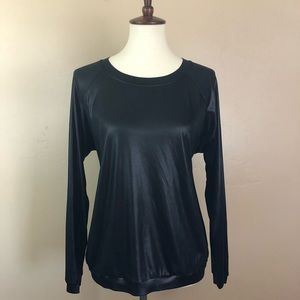 Urban Outfitters Grey Antic Black Shiny Pullover L